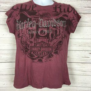 Harley Davidson Womens Lightweight Graphic Tee Med